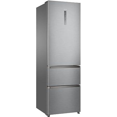 Haier A3FE635CGJE Autonome 330L A+ Argent réfrigérateur-congélateur - Réfrigérateurs-congélateurs (330 L, Pas de givre (réfrigérateur), SN-T, 12 kg/24h, A+, Argent)
