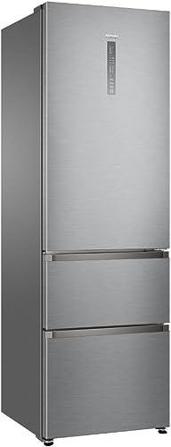Haier A3FE635CGJE Autonome 330L A+ Argent réfrigérateur-congélateur - Réfrigérateurs-congélateurs (330 L, Pas de givr...