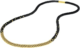 Beadaholique Long Beaded Kumihimo Necklace - Black & Gold - Exclusive Jewelry Kit