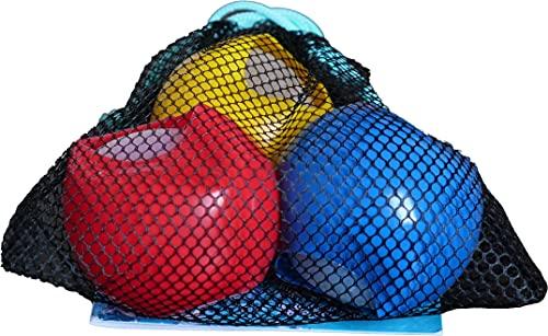 alldoro 63038 Water Splash - Juego de 3 bombas de agua de 6 cm de diámetro, reutilizables, autocierre, para jardín y playa, niños a partir de 3 años y adultos, color rojo, azul y amarillo