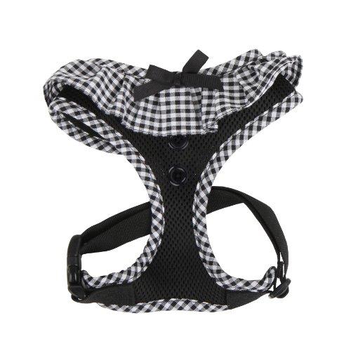 Puppia PALA-AC860 Hundegeschirr, Vivien, Größe L, schwarz
