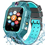 Kids Smart Watches Phone-Waterproof GPS Tracker Smartwatch for Kids Boys Girls with SOS Games Alarm Clock Touch Screen Digital Wrist Watch Holiday Toys Birthday Gifts (Green)