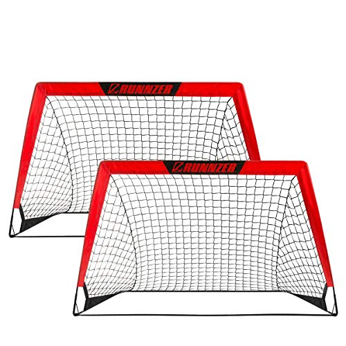 Portable Soccer Goal, Pop Up Soccer Goal Net for Backyard Training Goals for Soccer, Set of 2 with Carry Case, 3.3'/4.5'x 2.5'