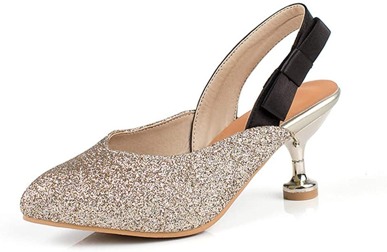 Damenschuhe, Mode Mode Pailletten Baotou Sandalen Damen,B,42  Rabattaktionen