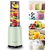 TEMINICE Professional Personal Countertop Blender for Milkshake, Fruit Vegetables Drinks, Ice, Small Mini