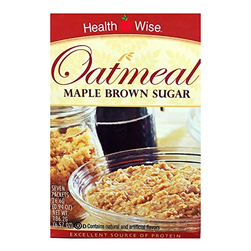 HealthWise Oatmeal Maple Brown Sugar 7 packets of 0934 oz net 654 oz