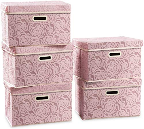 Depruies Aufbewahrungsbox Stoff, A10 Aufbewahrungskorb Aufbewahrungsboxen Kleider-Organizer Stoff-Aufbewahrungskorb Mit Griff Für Kleidung Spielzeug Aufbewahrungsbox Stoff (Color : A)