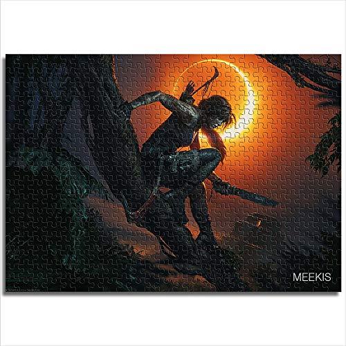Mini 1000 piezas Shadow of the Tomb Raider rompecabezas de papel con impresión digital HD