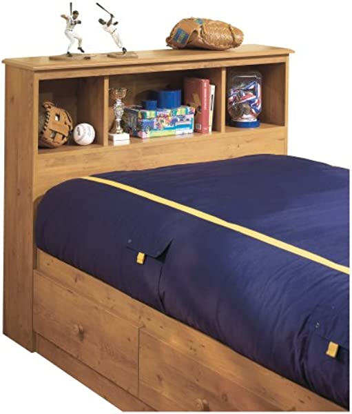 South Shore Little Treasures Bookcase Headboard With Storage Twin 39 Inch Country Pine