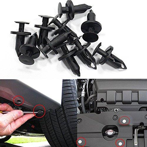 Muchkey Karosserieverkleidung Clips Verschluss Entferner Stoßfänger Auto Clips Clip Set Push Pin Nieten Set 8 * 76mm 50 Stücke