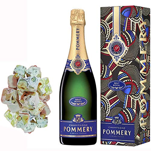 Champagne Pommery - Brut Royal in caso 150g nougadets & Hazel - Jonquier Two Brothers