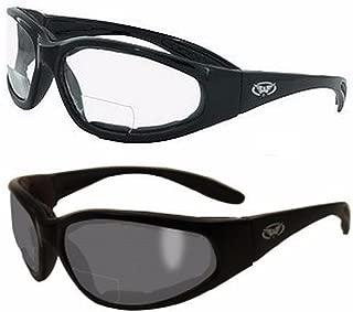 2 Pairs - 2.0 Bifocal Global Vision Eyewear Hercules Anti-fog Safety Glasses with EVA Foam (1 Clear, 1 Smoke)