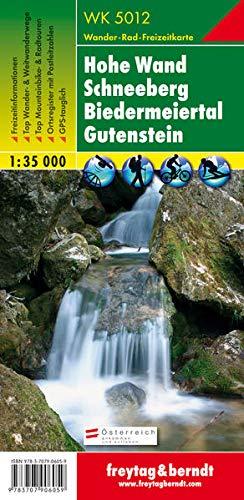 Hohe Wand - Schneeberg - Biedermeiertal - Gutenstein, Wanderkarte 1:35.000, WK 5012: GPS-tauglich. Freizeitführer. Ortsregister (freytag & berndt Wander-Rad-Freizeitkarten)