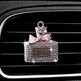 Bling Car Accessories for Women, Bling Car Charm Air Vent Clips, Crystal Car Air Freshener, Elegant Car Interior Decoration Charm with Replacement Pads – 100% Handmade, Easy to Clean (Bottle)