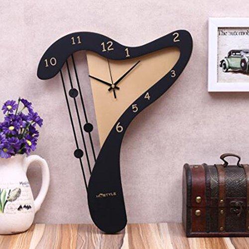 YIWANGO Wanduhr Mode Kreative Wohnzimmer Wohnzimmer Uhr Schlafzimmer Dekoration Klavier Hängenden Tisch Mediterrane Stille Kunst