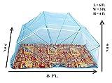 Elegant Mosquito Net Elegant Single Bed 3*6 Blue Color Mosquito Net