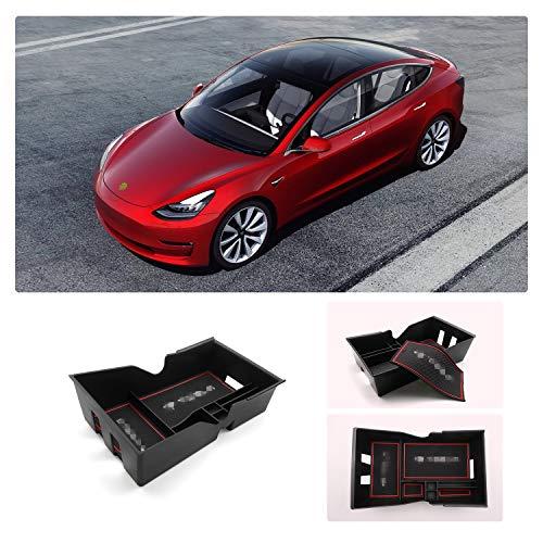 RUIYA Caja de Almacenamiento para Consola Central, Organizador, Organizador para reposabrazos, Caja Adaptada para 2018 2019 Tesla Model 3, Consola organizadora, Caja organizadora, Bandeja insertada