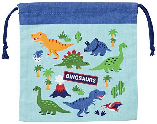 スケーター 子供用 お弁当 巾着袋 マチ付 ディノサウルス 20×20cm KB64C