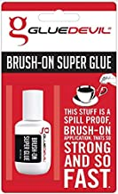 Glue Devil - Premium Super Glue with Brush-On Applicator (8g) - Extra Strong & Fast, Spill-Proof