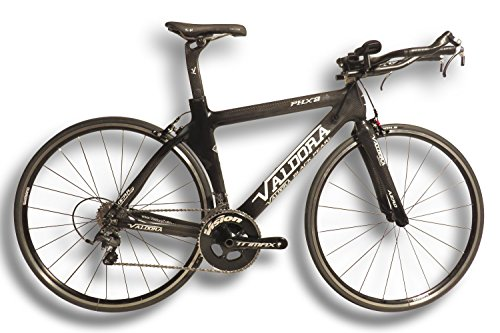 Valdora PHX-2 Carbon Fiber Triathlon Bikes - Small - 3K Carbon W/White Accents - Ultegra