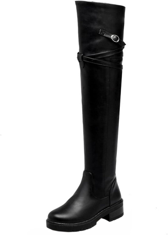 KemeKiss Women Solid Boots Half Zipper
