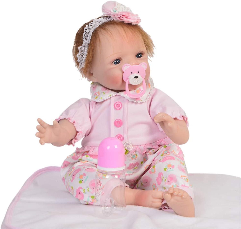 MCCW Wiedergeborene Baby-Puppen-Simulation Baby Frühaufagogik Puzzle Puzzle Kindergeschenk Set 22 Zoll Stoffkrper