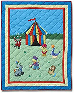 Patch Magic 36-Inch by 46-Inch Circus Quilt Crib