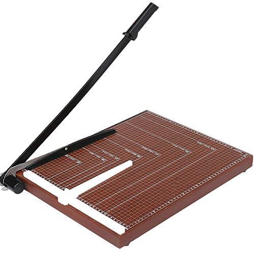 Meditool Cortador de Papel A3 B4 A4 Guillotina de Papel (A3),48.5 x 38.5 x 3.3cm,Seguridad Salvaguardar, Base de Madera Rojo oscuro
