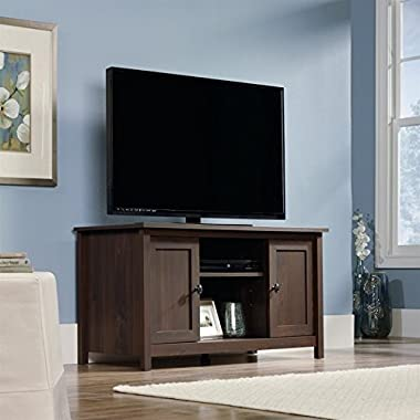 Sauder 416923 Rum Walnut Finish County Line TV Stand