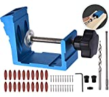 Pocket Hole Jig Kit Dowel Drill Joinery Screw Kit Carpenters Wood...