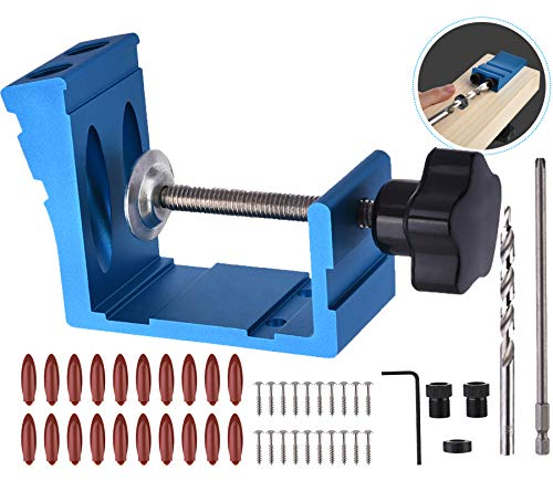 Pocket Hole Jig Kit Dowel Drill Joinery Screw Kit Carpenters