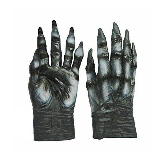 OULII Halloween Wolf Handschuhe Horror Kostüm Zubehör für Halloween Karneval Party