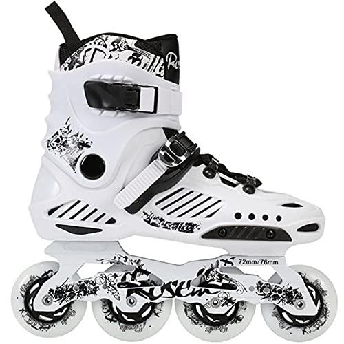 CLEEBAOXP Inline Skates Beginner Sport Patines de aluminio Alloy Bracket ABEC 7 Quiet Bearing Roller Blades Kids Boys Girls Teens Women-White_A_40
