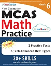 MCAS Test Prep: 6th Grade Math Practice Workbook and Full-length Online Assessments: Next Generation Massachusetts Comprehensive Assessment System Study Guide