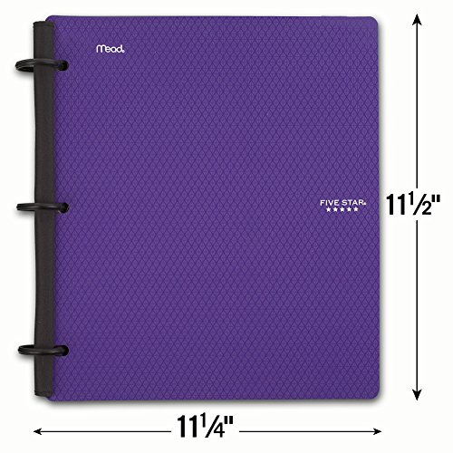 Five Star Flex Hybrid NoteBinder, 1-1/2 Inch Binder with Tabs, Notebook and 3 Ring Binder All-in-One, Purple (72518) Photo #5