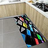 Alfombrillas de Cocina Alfombrillas de Puerta de Entrada para el hogar Alfombra geométrica para Sala de Estar Dormitorio Alfombra Antideslizante para baño n. ° 12 40X120cm