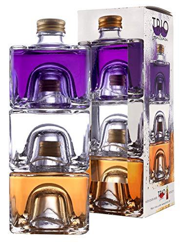 Destillerie Dr. Rauch Trio Gentleman 3x200 ml | Liköre | Gin, Rum, Wodka | Geschenk