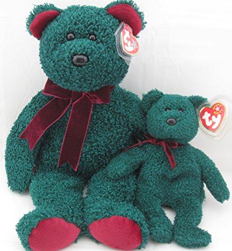 Foreign Accents Ltd. Ty Beanie Buddy & Baby Bear Set - 2001 Holiday Teddy