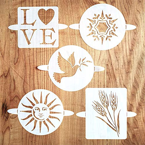 Breadtopia Bread Stencils (Set of 5) Decoration for Breads, Cakes, and Pies