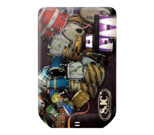 MusicSkins Schutzfolie für Seagate FreeAgent GoFlex Ultra-Portable Festplatte, extern (Motiv SJC Drums - Drum Collage)