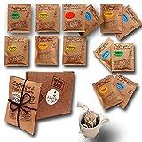 Life is You! BagBox  13 Coffee Bags (für Becher) aus 5 Fincas der Welt   frisch handgerösteter Filterkaffee zum Aufbrühen  100% Arabica, Probierset & Schönes Kaffee Geschenk aus 'die Höhle der Löwen'
