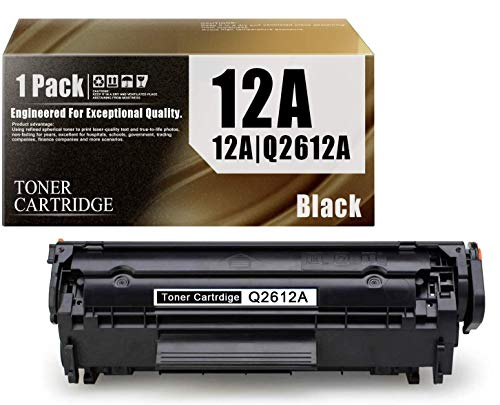 12A| Q2612A Quality Compatible Toner Cartridge 1-Pack Black Replacement for HP Laserjet 1020 1022 1022n 1022nw 1010 1012 1015 1018 3052 MFP 3055 MFP 3050 MFP 3030 MFP 3020 MFP 3380 MFP 3015 Printers