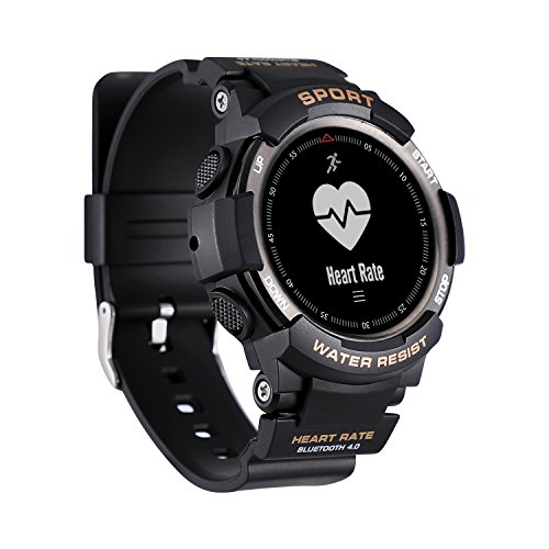 Reloj inteligente con monitor de ritmo cardíaco, contador de pasos, contador de calorías, podómetro, compatible con iOS y Android