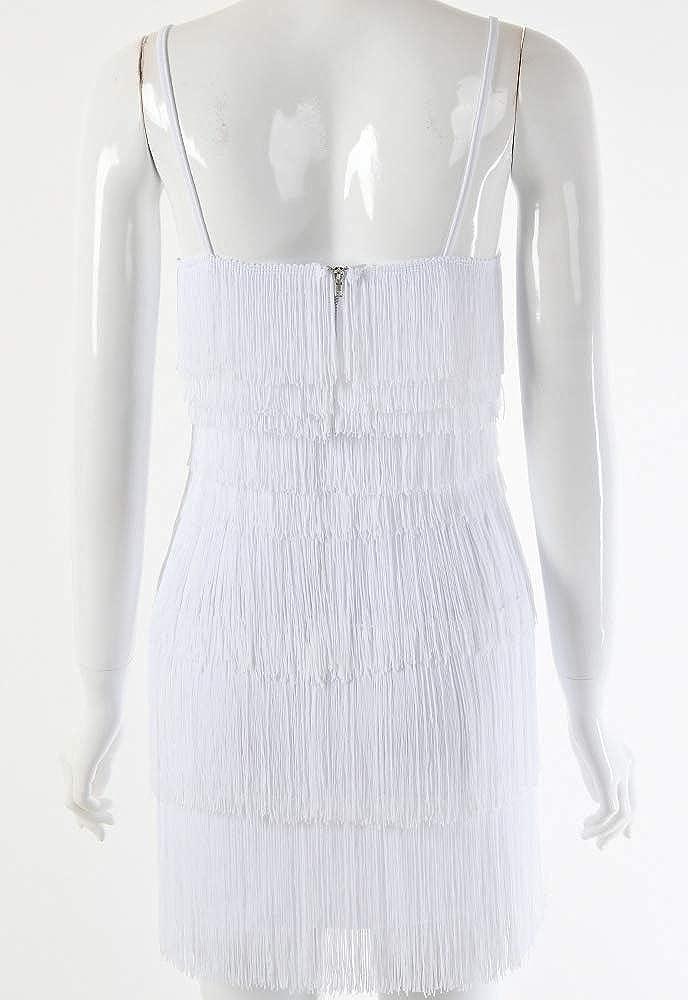 keland Robe /à franges style ann/ées 1920 Pour femme Robe de cocktail