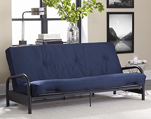 DHP 8' Polyester Futon Mattress Sofa bed, Full, Navy