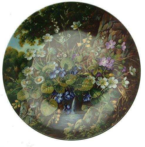 The Bradford Exchange C1991Fürstenbergs an der Quelle Wilde Schonheiten Hans Gras–von der Spring Wild Blumen–cp1613
