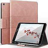 AUAUA Hülle für iPad 8. Generation (2020) / 7. Gen (2019) 10.2 Zoll mit Apple Stifthalter Auto Schlaf/Aufwach Funktion PU Leder Cover (Rosa)