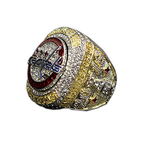 WSTYY Ice Hockey 2018 Washington Capitals Championship Ring Champion Ring, Meisterschaft Ringe Replica Bewegung Ring,with Box,13#