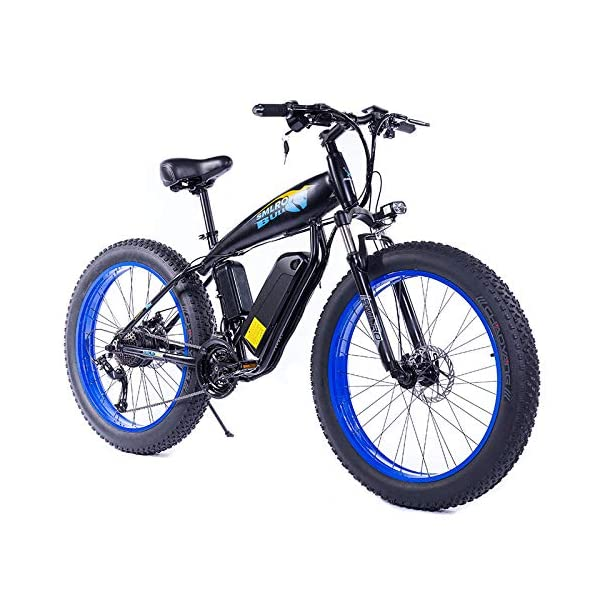 51+rD CPoqL. SS600  - JASSXIN Moutainbike Electric Mountain Bike, 48V-Lithium-Batterie, High-Speed-Motor, Thick Reifen, Elektrisches Fahrrad, Thick Ebike, Max 70Km / H