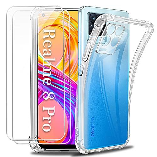 Funda para Realme 8 Pro 4G con Dos Cristal Templado Protector de...